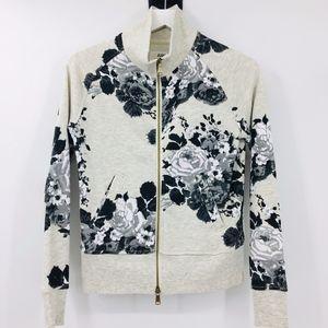 Juicy Floral Zip Up Sweatshirt